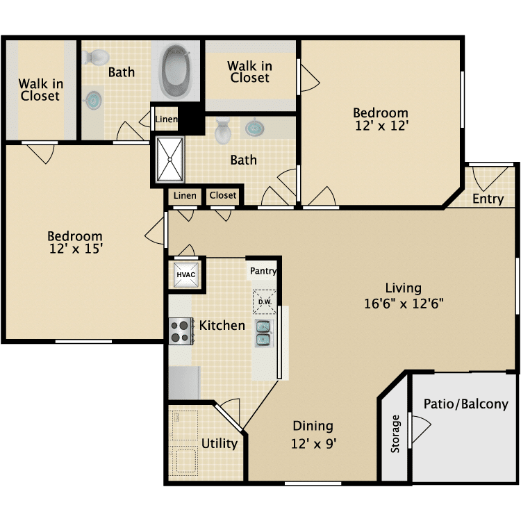 Two Bedroom Apartments Westland Apartments Knoxville Tn