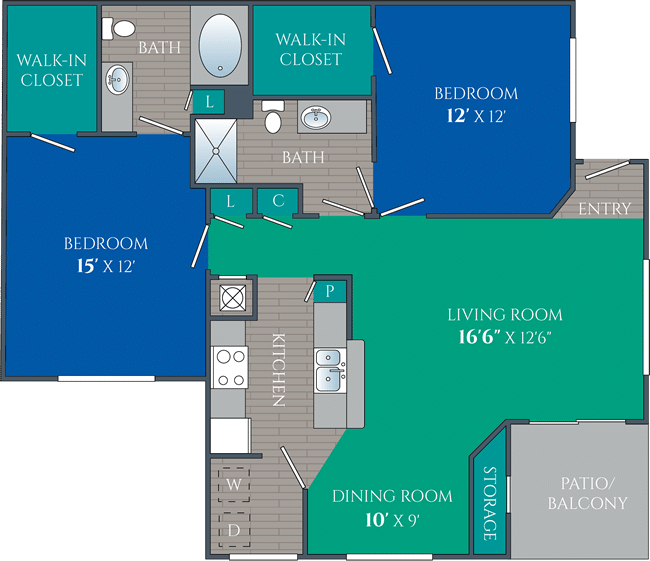 two bedroom apartments in knoxville