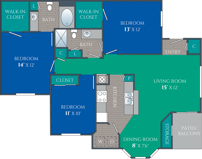 three bedroom apartments in knoxville